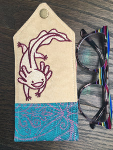I Love You A'Lotl Padded Glasses Case