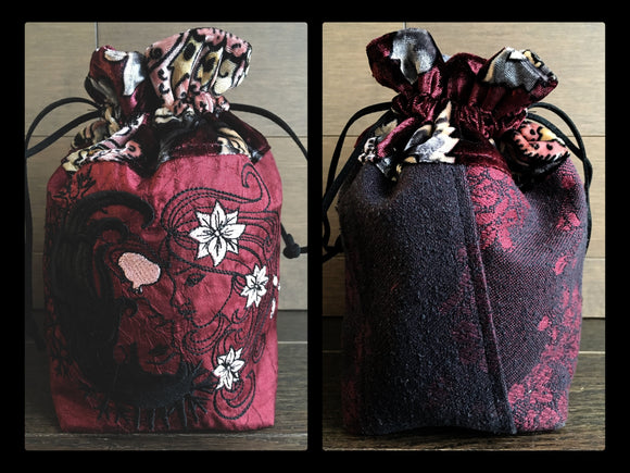 Persephone and Her Love Drawstring Bag or Dice Bag