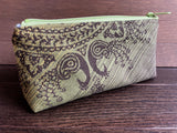 Peacock Jacquard & PUL Lined Compact Zipper Bag