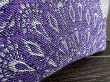 Purple and Silver Lace Jacquard & PUL Lined Compact Zipper Bag