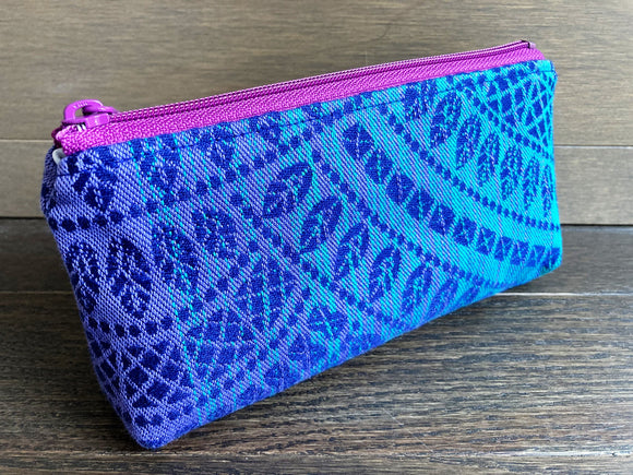 Peacock Tail Jacquard & PUL Lined Compact Zipper Bag