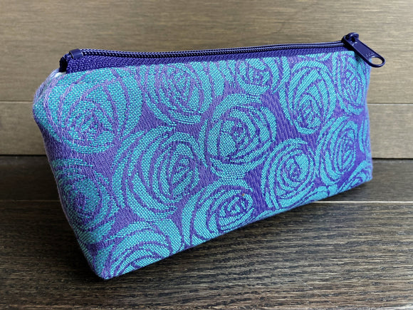 Roses Jacquard & PUL Lined Compact Zipper Bag