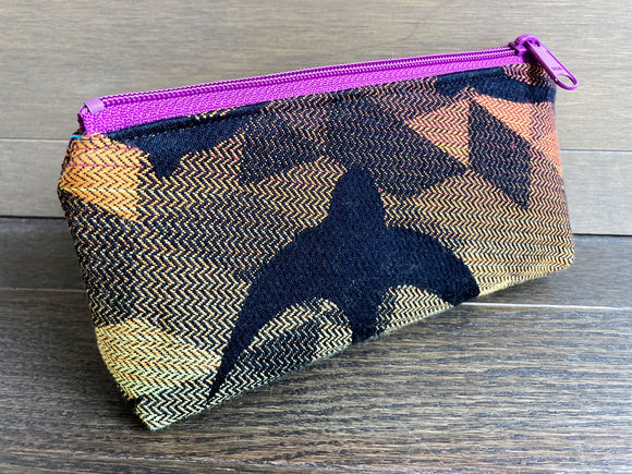 Rainbow Swallows Jacquard & PUL Lined Compact Zipper Bag