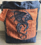 Shadows and Candlelight Dragon Medium Project Bag