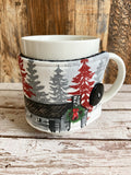 North Woods Holiday Reversible Mug and Cup Cozy (also fits pints of ice cream)