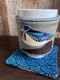 Wood Duck Reversible Mug and Cup Cozy (also fits pints of ice cream)