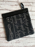 Elvish Script LotR Linen and Jacquard Hot Pad