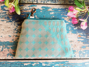 Blue and Silver Coin Purse