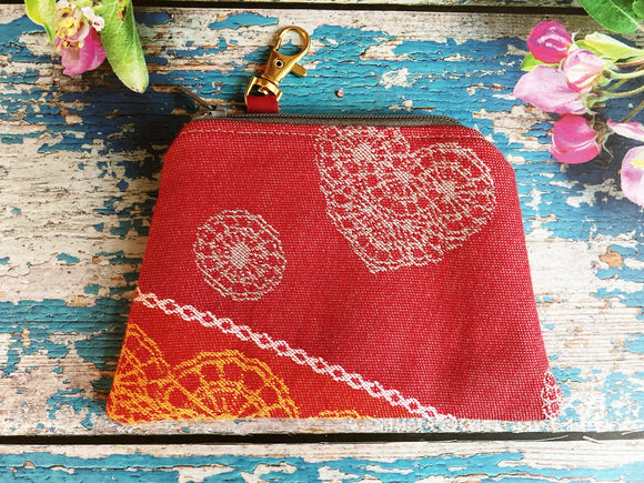 Cherry Lace Coin Purse