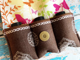 Chocolate and Flowers Essential Oil Day Pouch