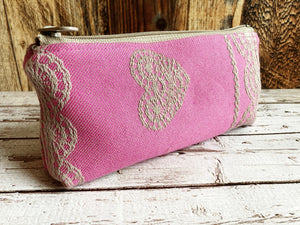Woven Jacquard & PUL Lined Compact Zipper Bag