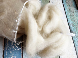 Py-Gora and Alpaca Cross Roving in Ivory