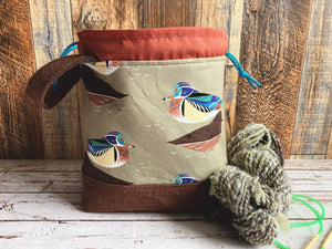 Wood Ducks Small Project Bag