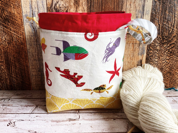 Ocean Flora and Fauna Small Project Bag