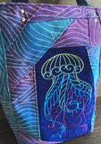 Jellyfish and Pieced Jacquard Tote Bag