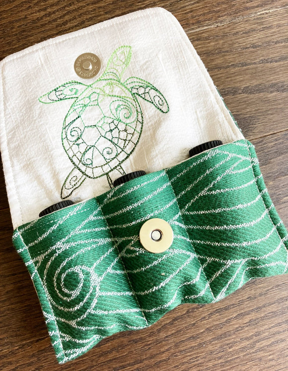 Sea Turtle Essential Oil Day Pouch