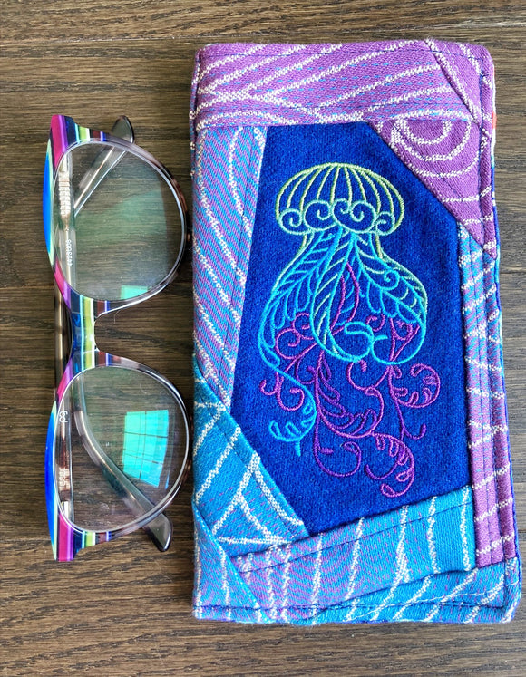 Jellyfish Padded Glasses Sleeve/Case