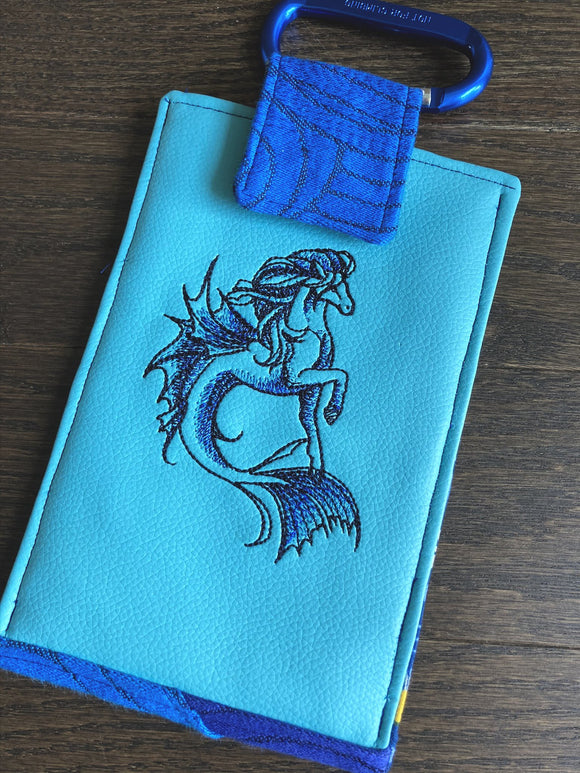 Hippocampus Phone Pouch with Internal Card Pocket