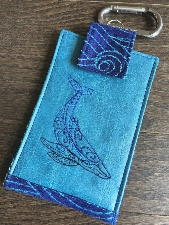Diving Whale Phone Pouch with Internal Card Pocket