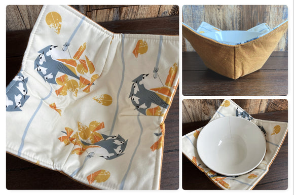 Titmice Bowl Cozy