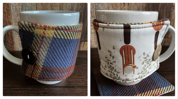 Chipmunk Reversible Mug and Cup Cozy (also fits pints of ice cream)
