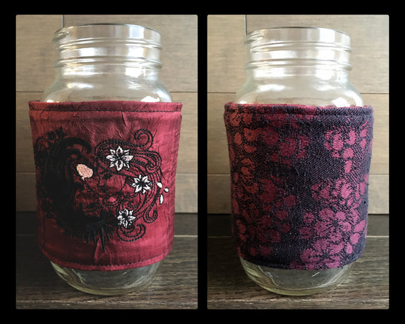 Persephone and Her Love Reversible Mason Jar Cozy
