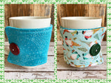 Holiday Gnomes Reversible Mug and Cup Cozy (also fits pints of ice cream)
