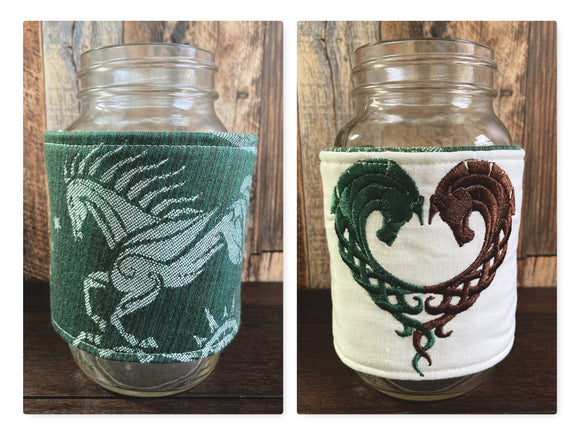 Rohan LotR XL Reversible Jar and Mug Cozy