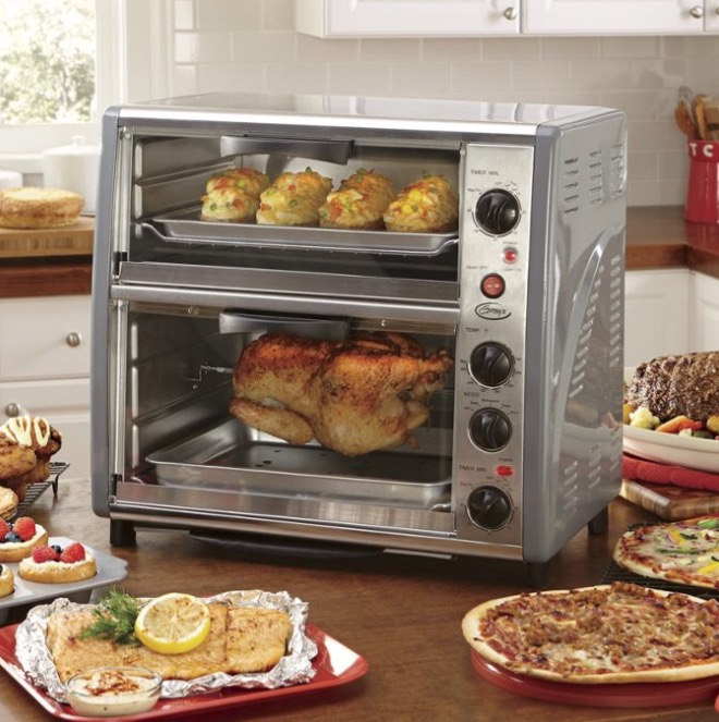 Ginny S Brand Double Decker Toaster Oven Stlouisoverstock Com