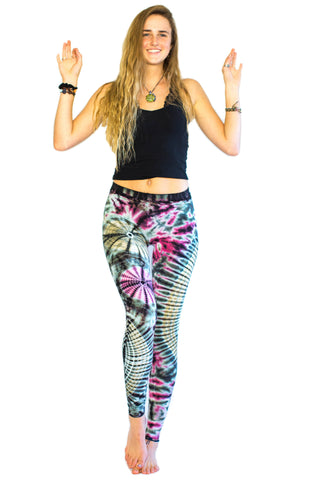 Rainbow Spider Web Swirl Tie Dye Leggings - Tie Dye Leggings