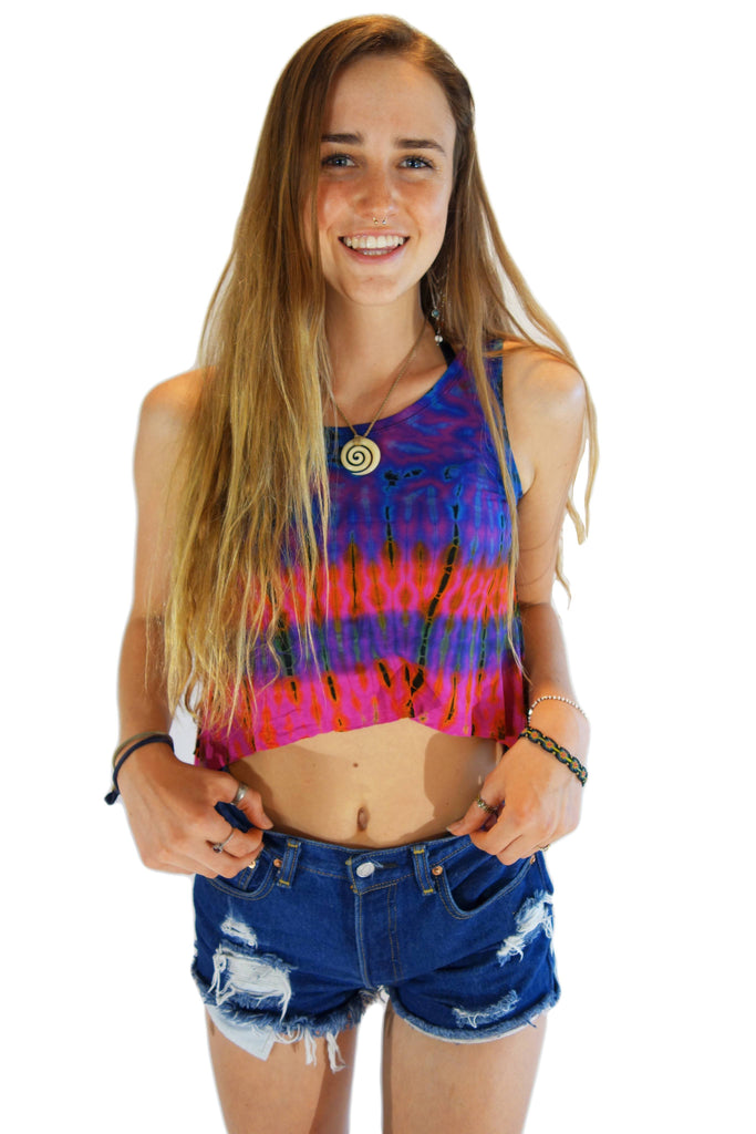 Pink Mix Tie Dye Tank Top - Tie Dye Leggings