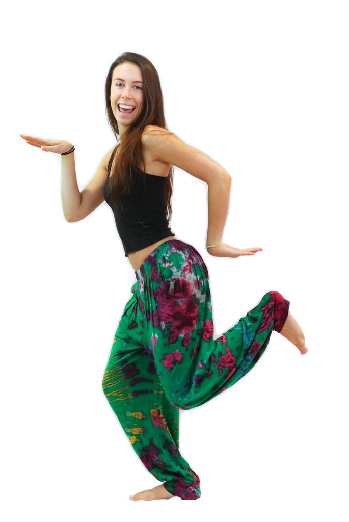 Tie Dye Pants Green Blue - Tie Dye Leggings