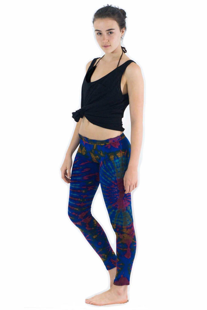 Dark Blue Mix Tie Dye Leggings - Tie Dye Leggings