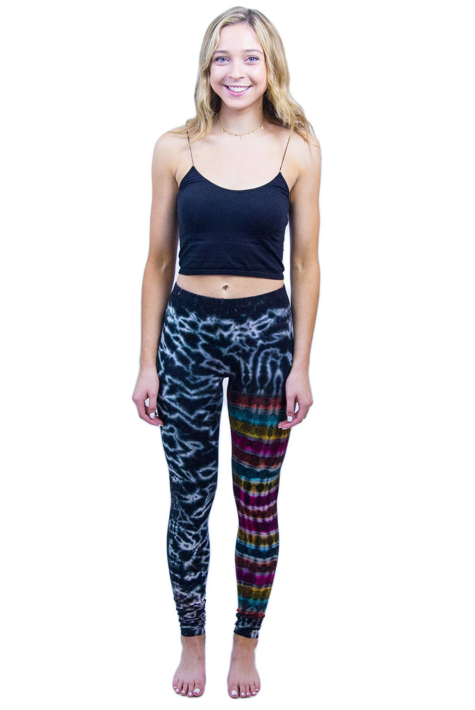 Blue Marble Rainbow Leg Tie Dye Leggings - Tie Dye Leggings