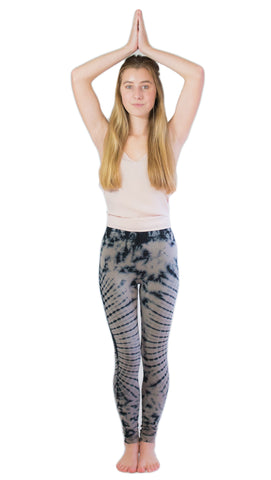 Grey Oval Tie Dye Leggings - Tie Dye Leggings