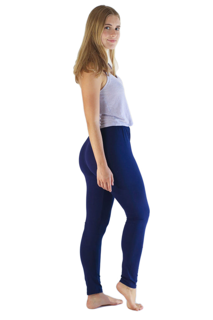Navy Blue Leggings - Tie Dye Leggings