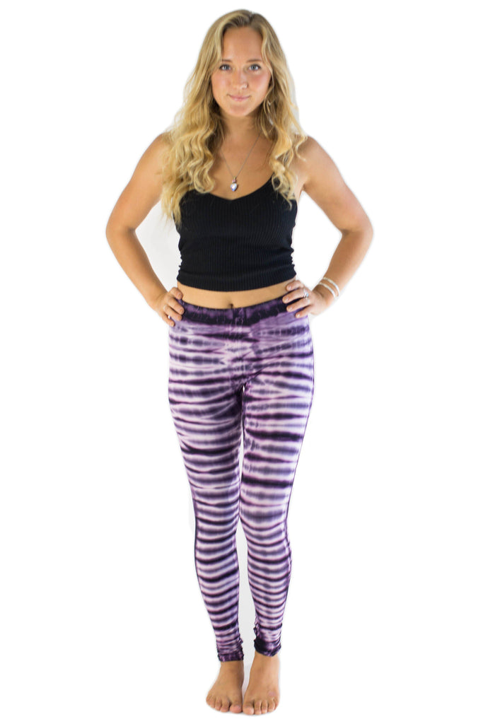 Purple White Blend Tie Dye Leggings - Tie Dye Leggings