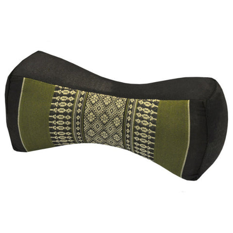 Thai Neck Bolster - Green and Brown