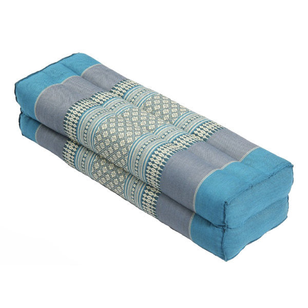 Large Yoga Bolster – Green/Brown