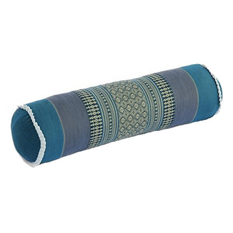 Cylindrical Yoga Bolster - Blue