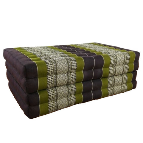 Large Thai Folding Bed - Green and Brown