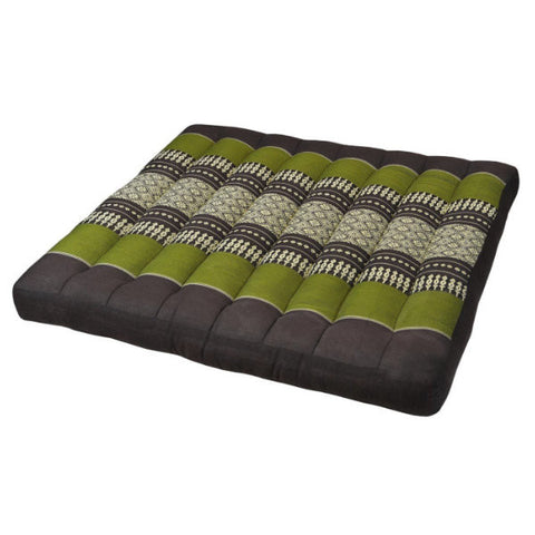 Large Seat Cushion - Green and Brown