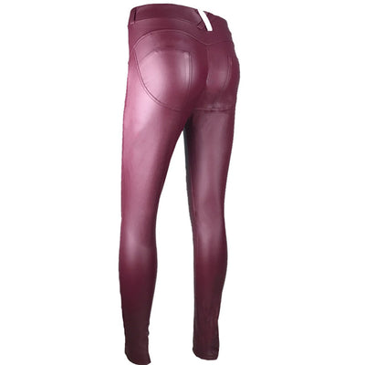 Leather Low Waist Leggings