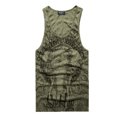 Elephant Print Sleeveless
