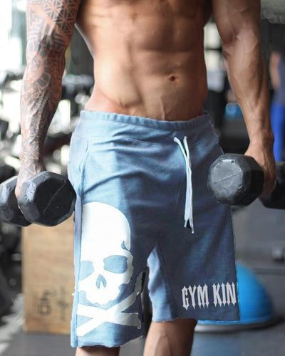 Casual Skull Gym Shorts