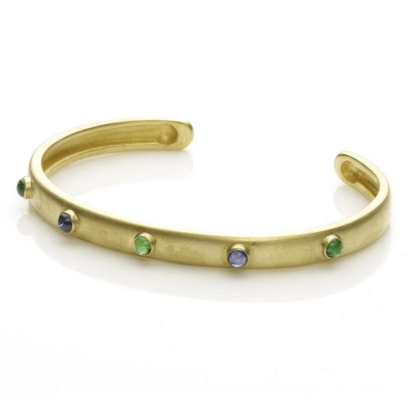 Emerald and Sapphire bangle