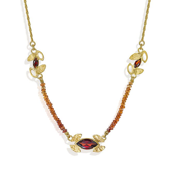 Garnet and Tourmaline Necklace