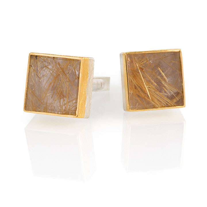 Rutilated Quartz Cufflinks