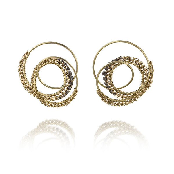 Inspiral Cognac Diamond Earrings