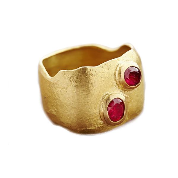 Gold and Spinels Ring
